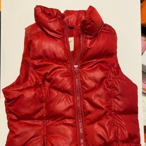 🔴 EUC Old Navy Red Puffer Vest